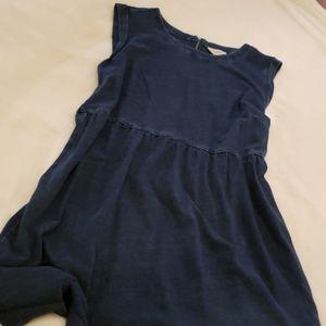 Loft navy blue cotton dress